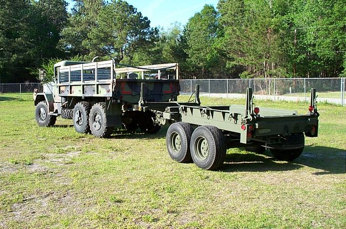 Army Truck And Trailer 003