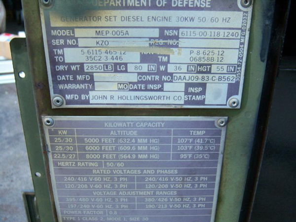 Military Kw Kw Diesel Extreme Duty Emp Proof Generator on Diesel Engine Diagram
