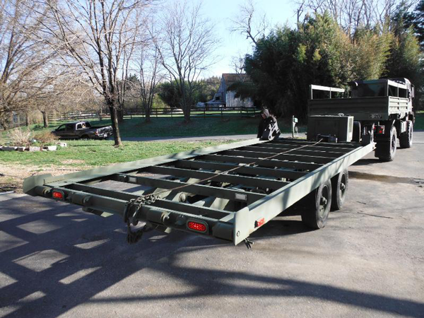 Self Loading Sea Container Trailer Surplus Military Depot